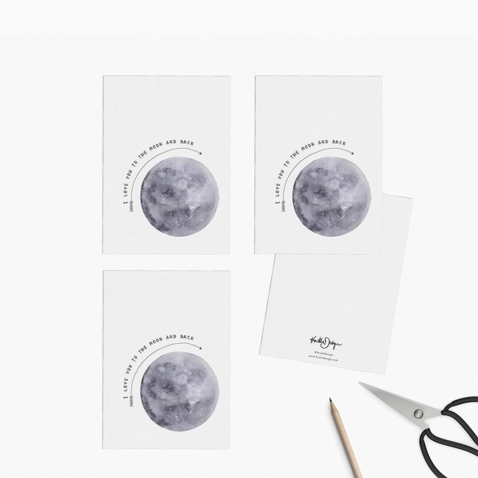 Kruth Design / POSTKARTEN SET MOON