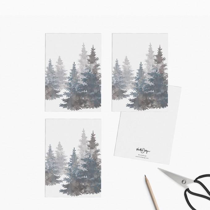 Kruth Design / POSTKARTEN SET TREES