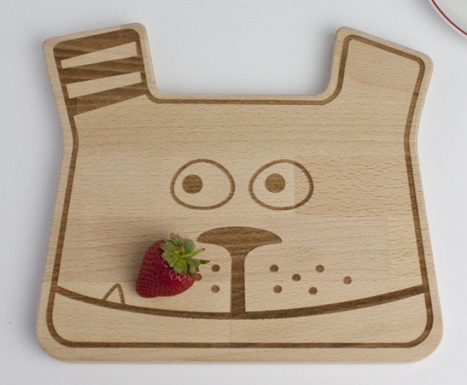 julica-design MonTi Dog Frühstücksbrettchen