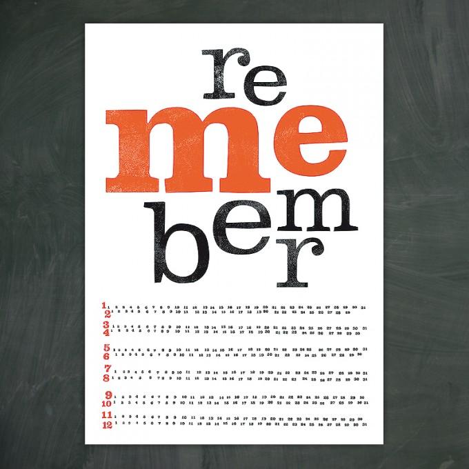 "sperlingB Geburtstagskalender-Plakat ""remember me"""