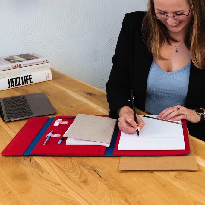 """RÅVARE Dokumentenmappe für A4-Block und Notitzbuch, passend für iPad Pro 12,9"""", 12"""" MacBook, 13,3"""" MacBook Air"""