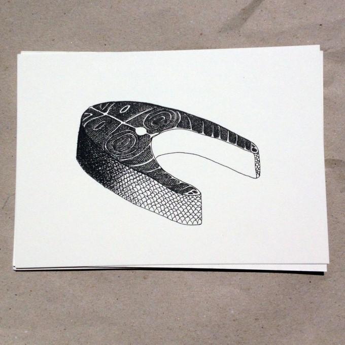 thethe FISHY STEAK Postkarte