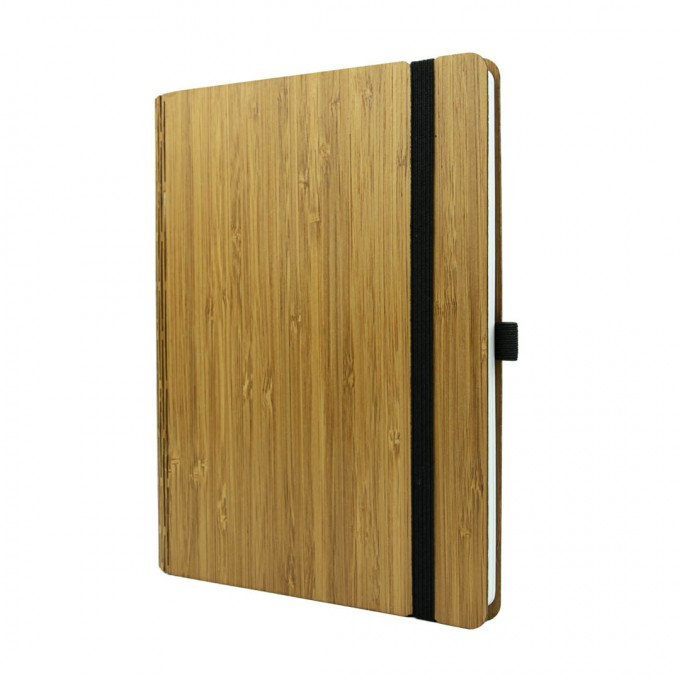 JUNGHOLZ Design Notizbuch, WoodBook, Bambus