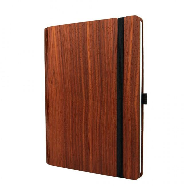 JUNGHOLZ Design Notizbuch, WoodBook, Padouk