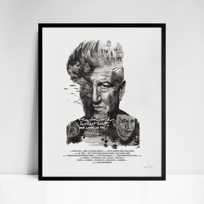 stellavie Movie Director Portrait Print, David Lynch
