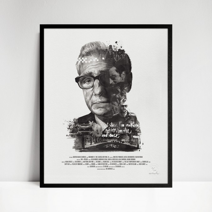 stellavie Movie Director Portrait Print, Martin Scorsese