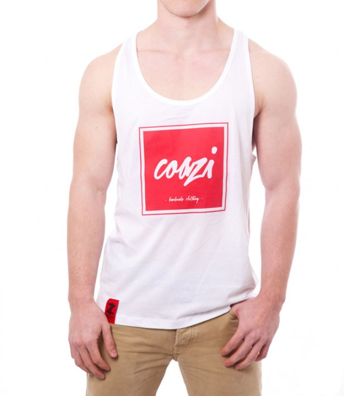 Coazi Written Red Tank-Top
