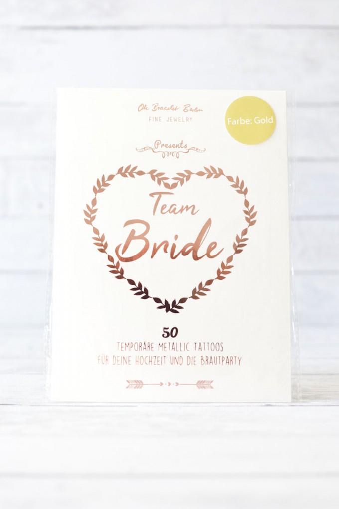 Oh Bracelet Berlin – TEAM Bride Tattoo Set 50-teilig