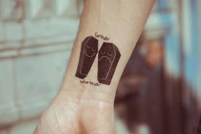 Temporary Tattoo - Forever Whatever (2er Set)