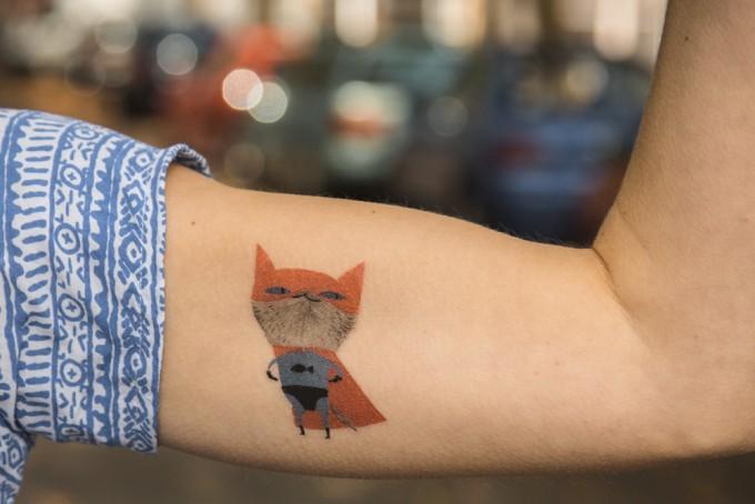 Temporary Tattoo - Supercat (2er Set)