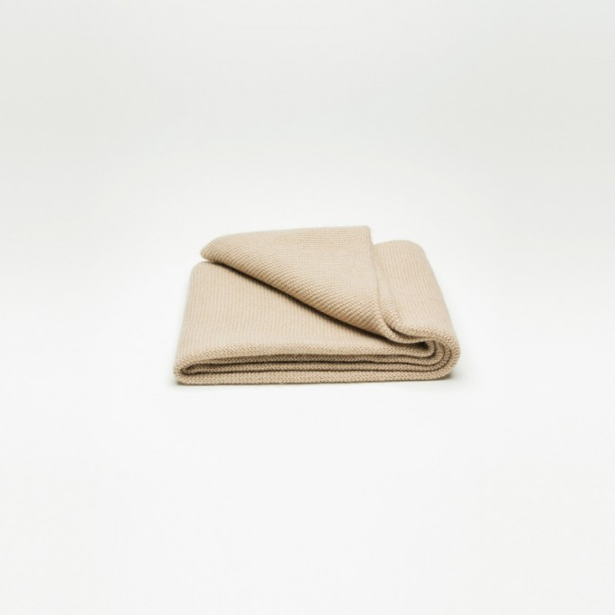 Rimma Tchilingarian – The Casual Camel Hair Scarf – Feinstes Baby Kamelhaar, creme – ungefärbt