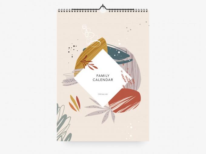 typealive / Familienkalender DIN A3 / Floral