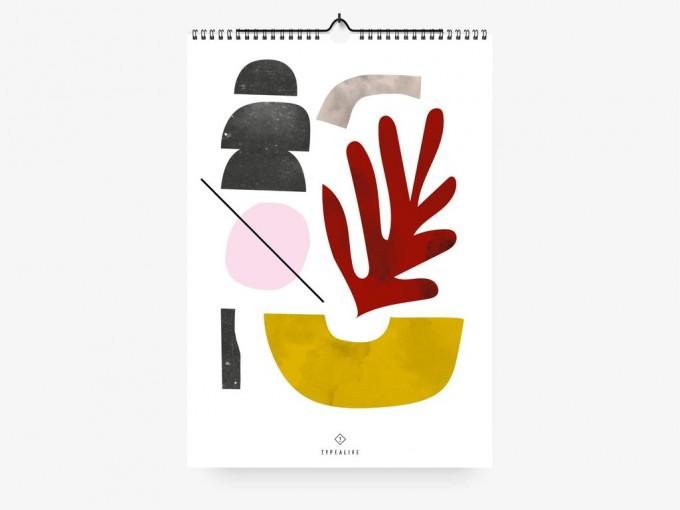 typealive / Wandkalender DIN A3 / Scandi 2020