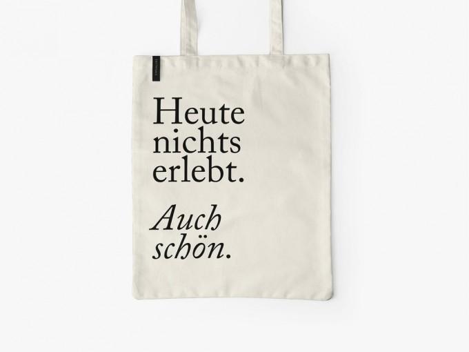 typealive / Baumwolltasche / Auch Schön