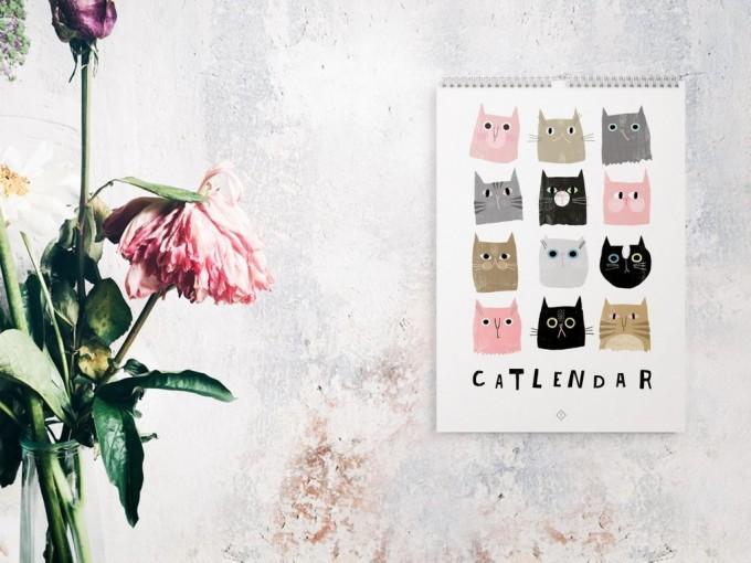 typealive / Wandkalender / Catlendar Catisfaction 2020