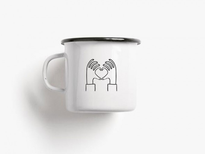 typealive / Emaillebecher Tasse / Love You A Latte