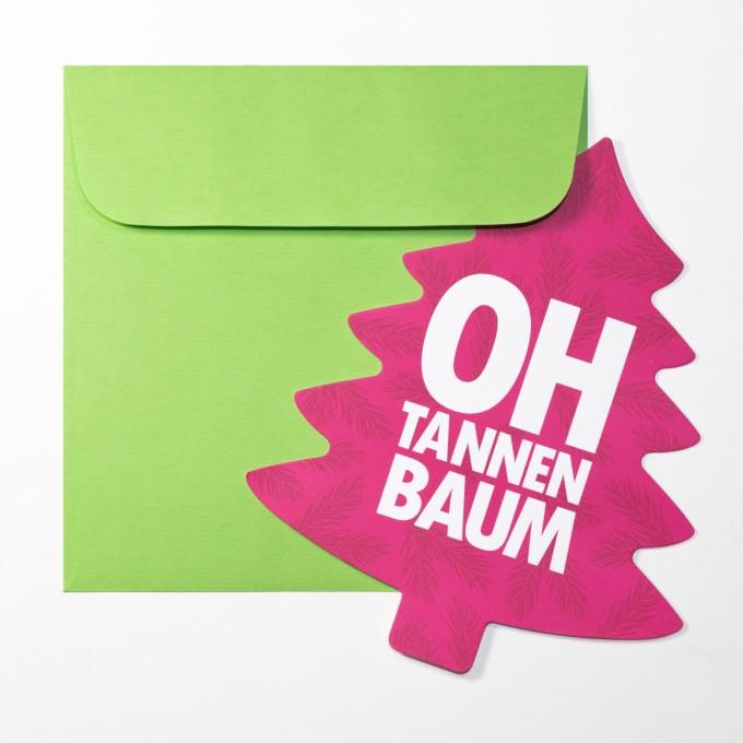 """TYPOP Weihnachtskarte """"Oh Tannenbaum"""" in Tannenbaumform inkl. Umschlag"""