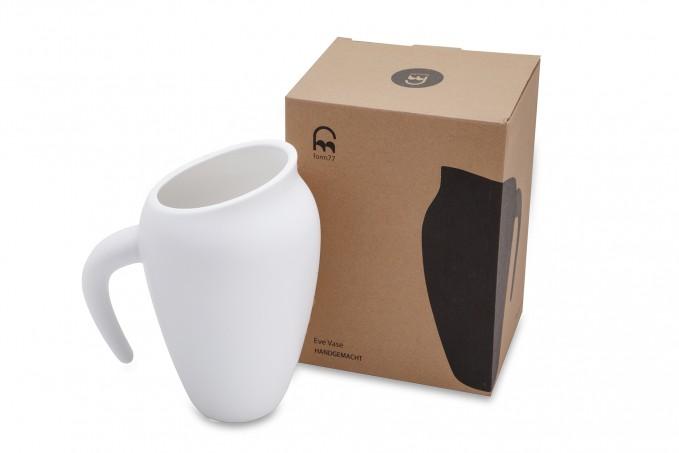 Form77 Eve Vase (matt-weiß)