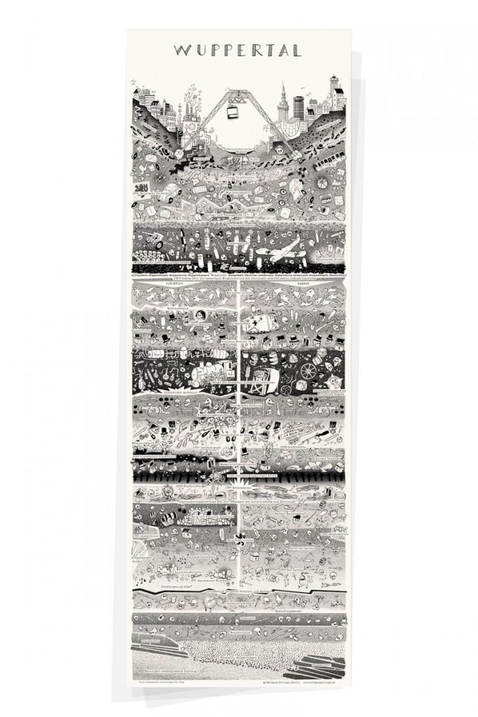 Wolfgang Philippi WUPPERTAL PLAKAT 30x88 cm