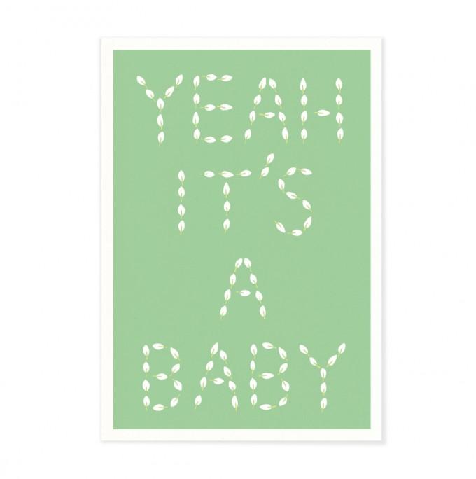 "Edith schmuckes Papier ""Yeah it's a baby"" Postkarte"