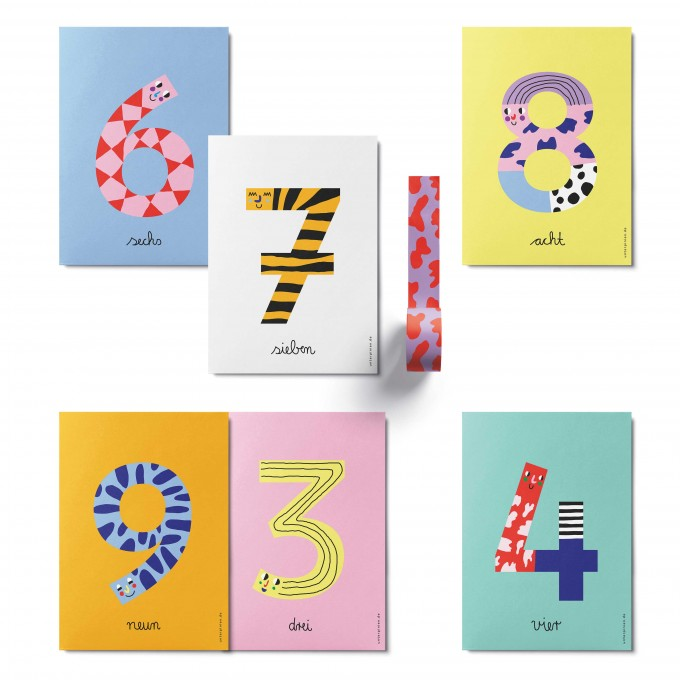UNTER PINIEN – Kleine Zahlenparade – Kartenset