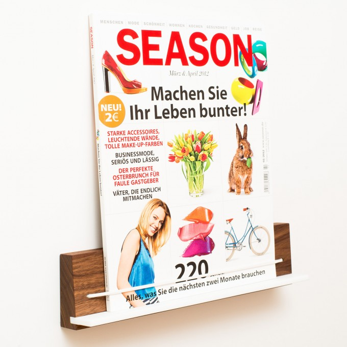klotzaufklotz Zeitschriftenhalter Nussbaum
