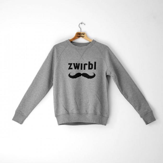 Zwirbl Moustache Crewneck Sweater