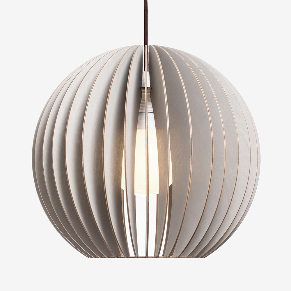 aion l pendelleuchte aus holz grau. Black Bedroom Furniture Sets. Home Design Ideas