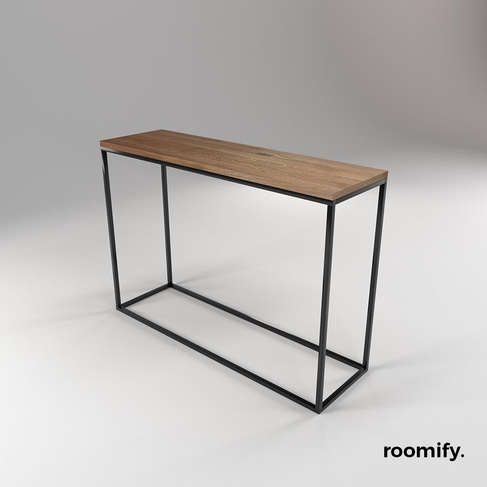 Roomify konsole konsolentisch linnea black for Schmaler couchtisch