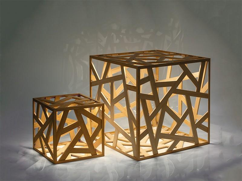 Lampen Design Kubus   Zur Beleuchtung dienen LED Glühbirnen