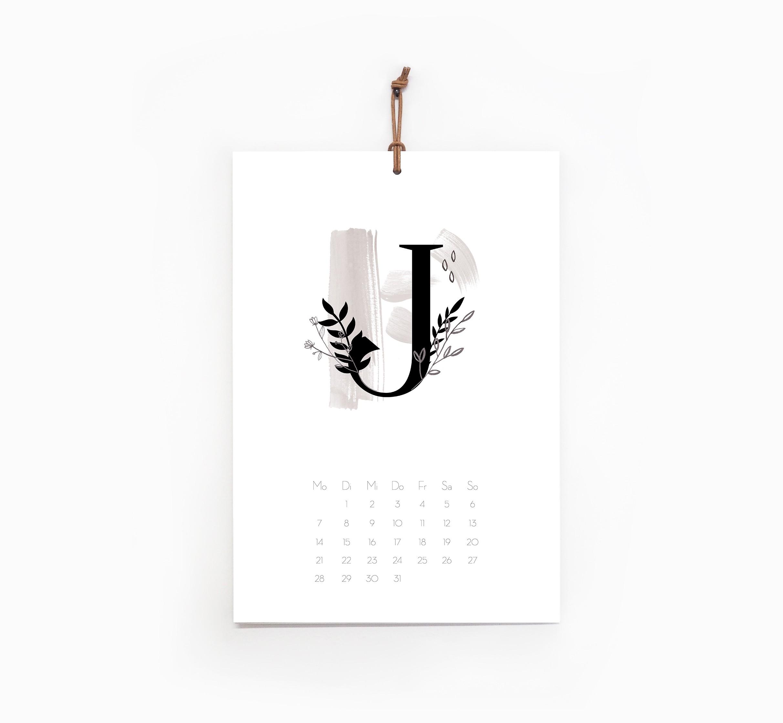 kruth design kalender 2019 letter. Black Bedroom Furniture Sets. Home Design Ideas