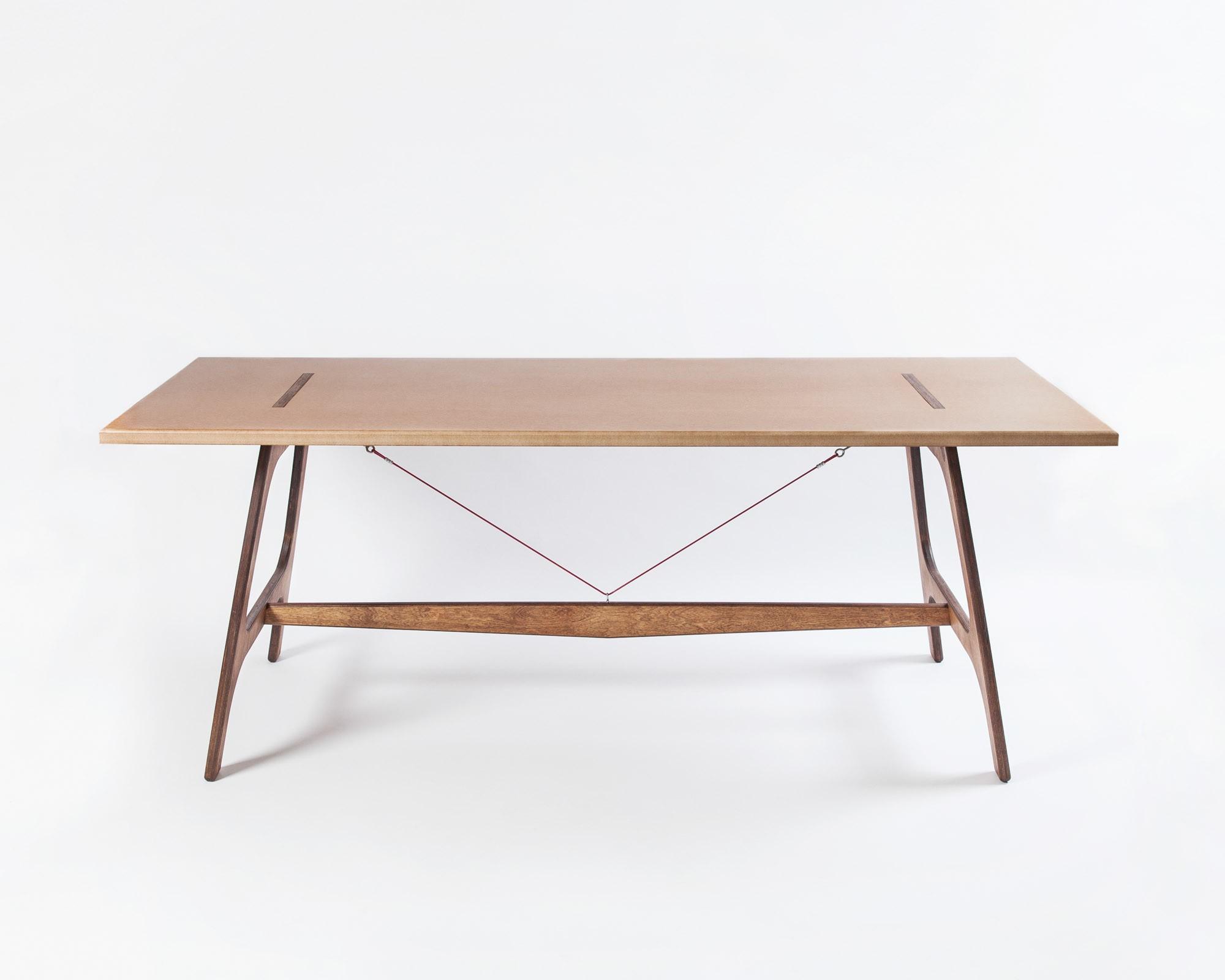 pirol furnituring pit frame tisch mdf 200cm beine birke braun. Black Bedroom Furniture Sets. Home Design Ideas