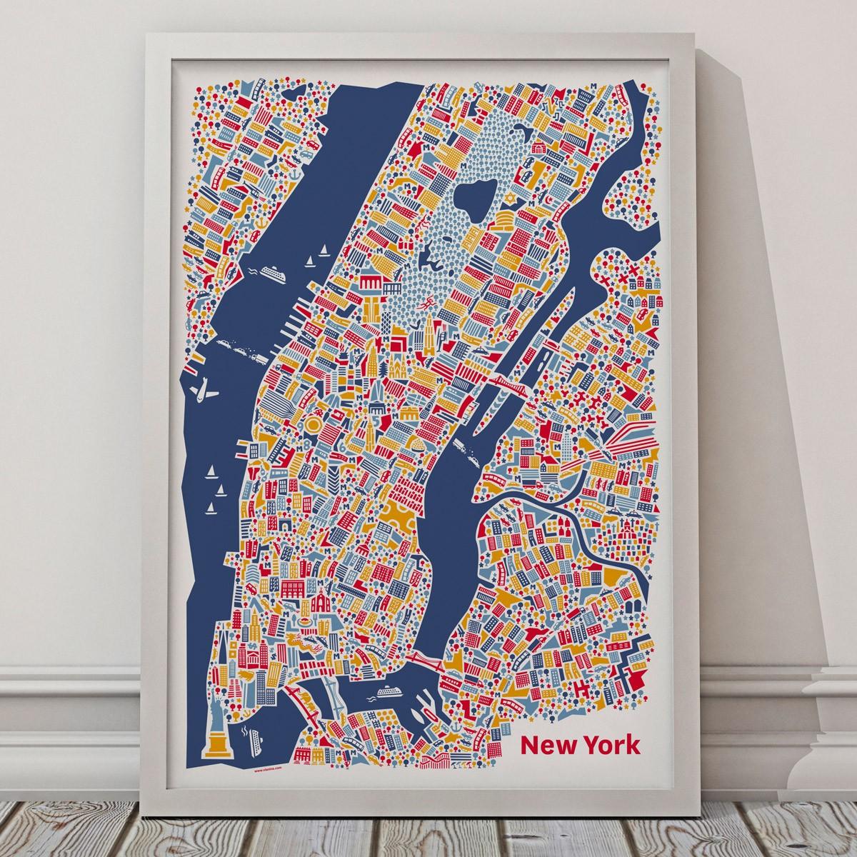vianina new york poster 50 x 70. Black Bedroom Furniture Sets. Home Design Ideas