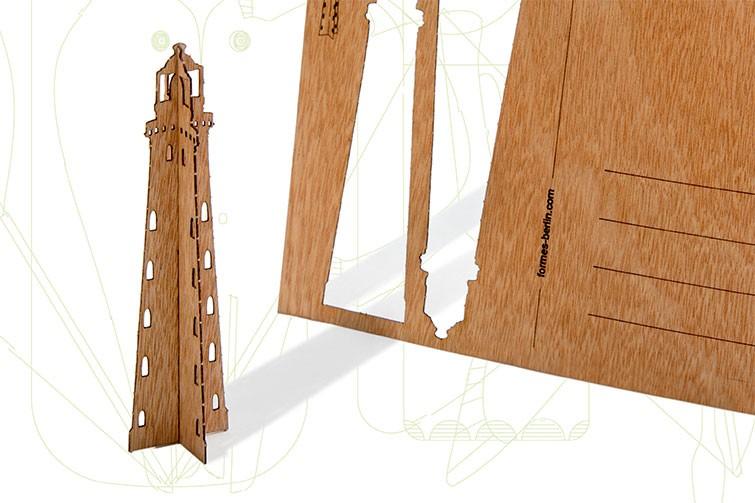 formes berlin leuchtturm karten 6 postkarten aus holz. Black Bedroom Furniture Sets. Home Design Ideas