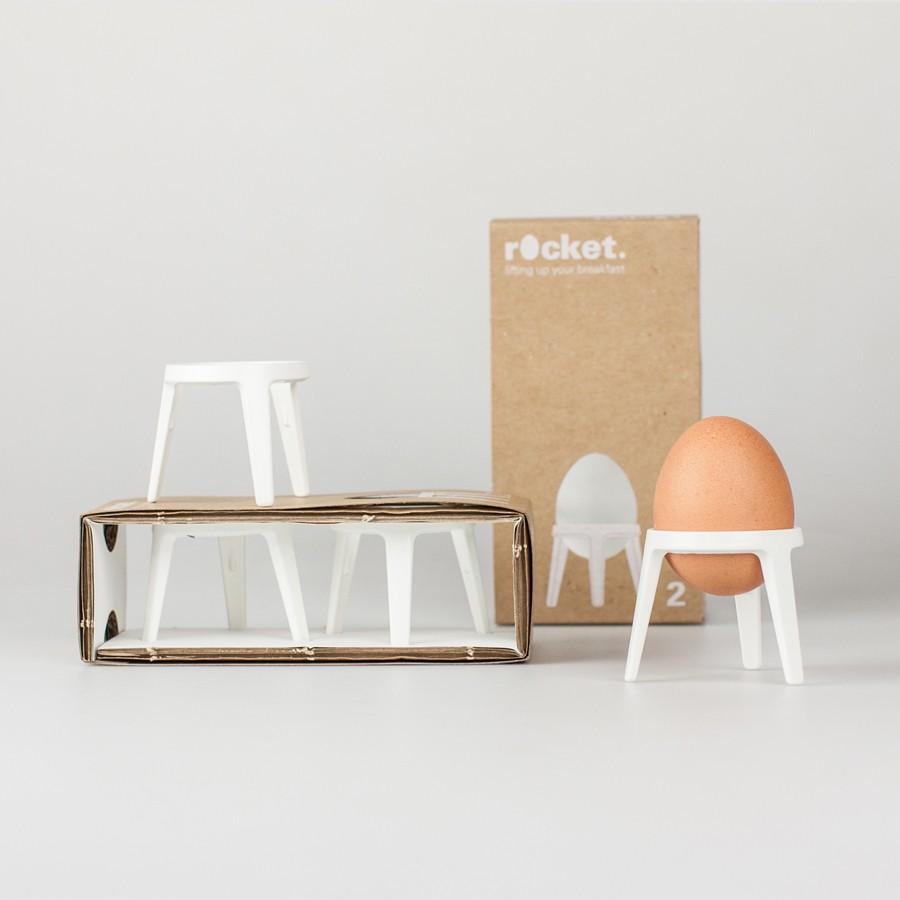 rocket design eierbecher aus metall 2er geschenkset. Black Bedroom Furniture Sets. Home Design Ideas
