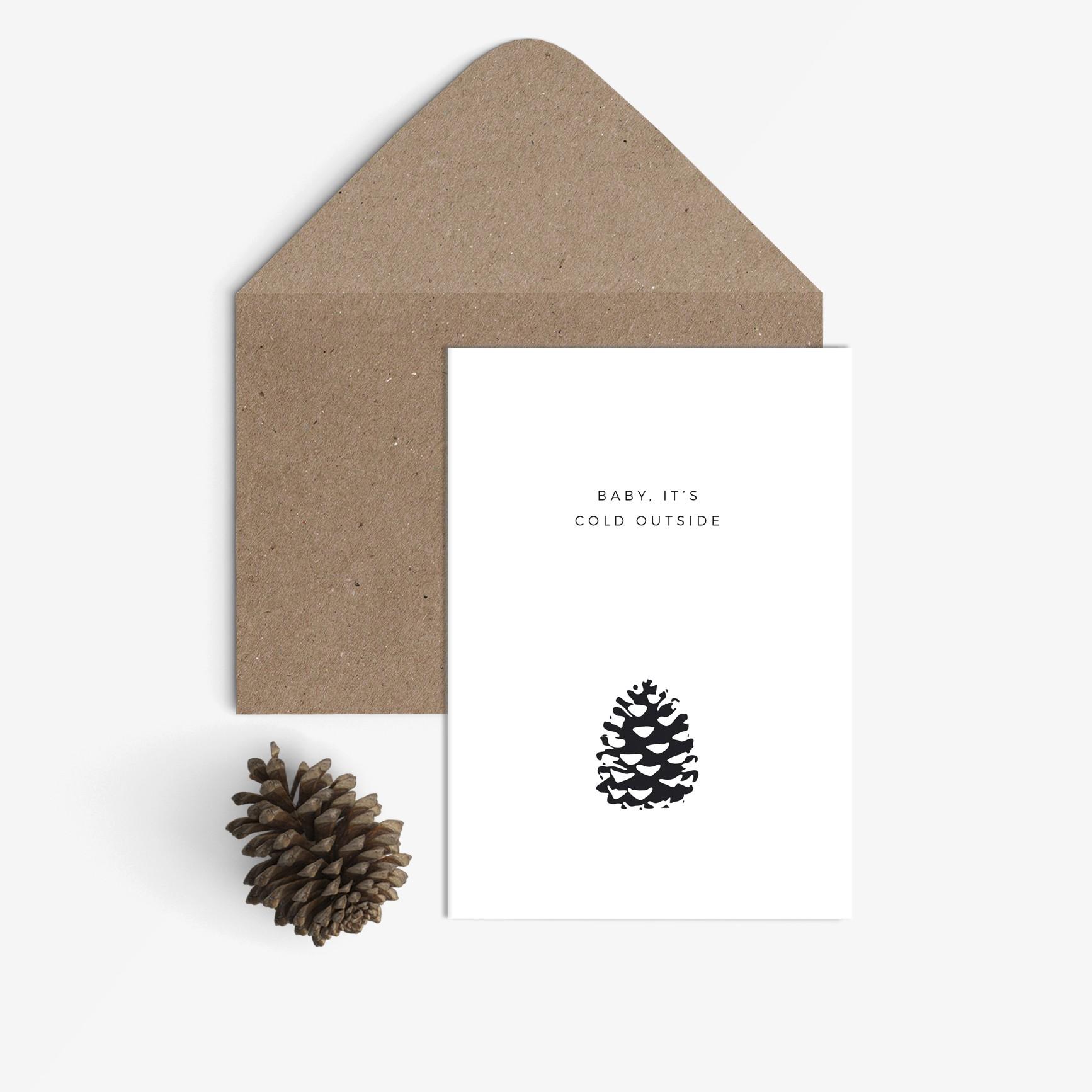 sonst noch was weihnachtskarte baby it 39 s cold outside. Black Bedroom Furniture Sets. Home Design Ideas