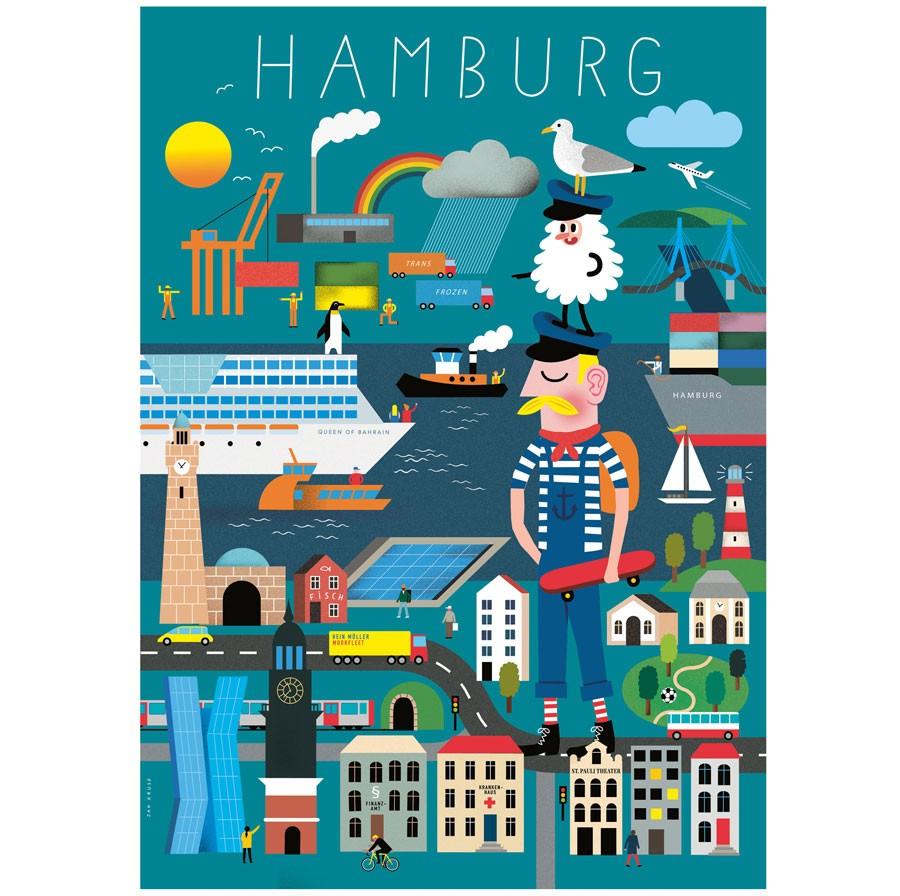 human empire hamburg erkl rbuch poster 50x70cm. Black Bedroom Furniture Sets. Home Design Ideas