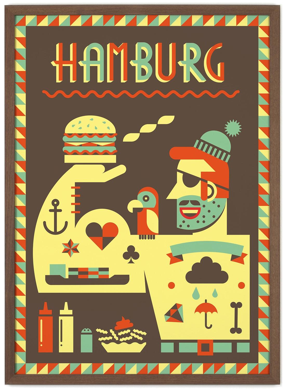 human empire hamburg 2 poster 50x70cm. Black Bedroom Furniture Sets. Home Design Ideas