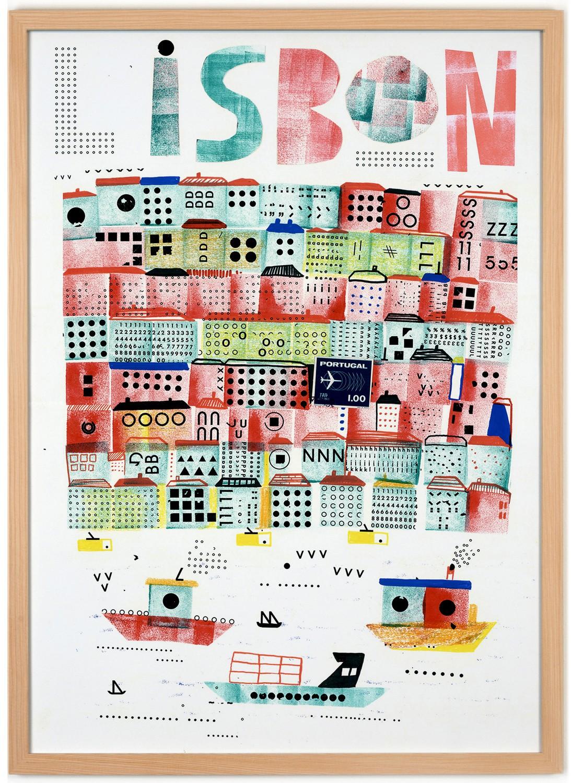human empire lissabon 2 poster 50x70cm. Black Bedroom Furniture Sets. Home Design Ideas