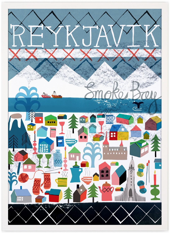 human empire reykjavik poster 50x70cm. Black Bedroom Furniture Sets. Home Design Ideas
