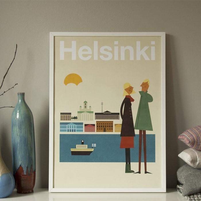 human empire helsinki poster 50x70cm. Black Bedroom Furniture Sets. Home Design Ideas