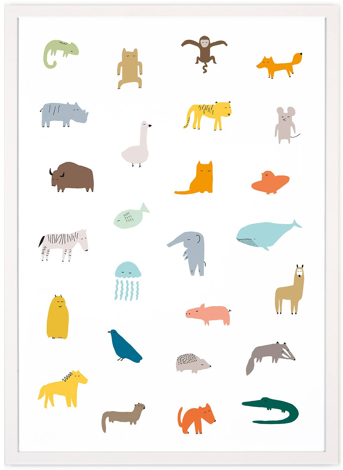human empire so many animals poster 50x70cm. Black Bedroom Furniture Sets. Home Design Ideas
