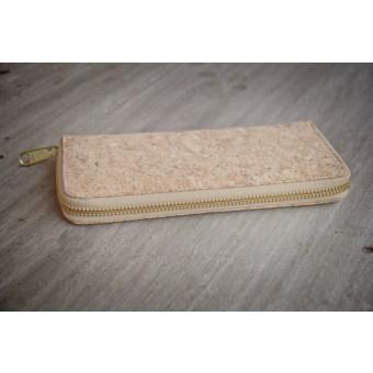 Portemonnaie, Brieftasche aus  Kork mit Zipper BY COPALA