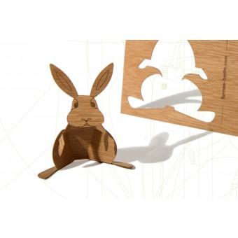 formes Berlin Hasenkarten - 6 Postkarten aus Holz