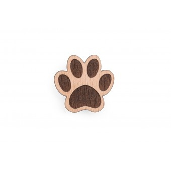 BeWooden Holzbrosche - Paw Brooch