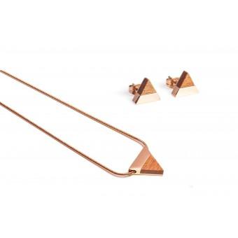 BeWooden Halskette & Ohrringe Set - Rea Set