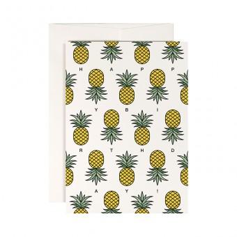 redfries ananas polka –Klappkarte DIN A6 mit Umschlag