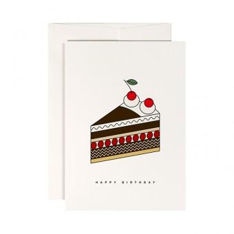 redfries cherry cake –Klappkarte DIN A6 mit Umschlag