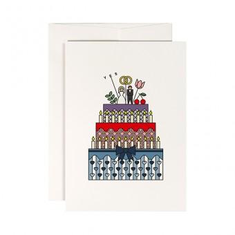 redfries fancy cake –Klappkarte DIN A6 mit Umschlag