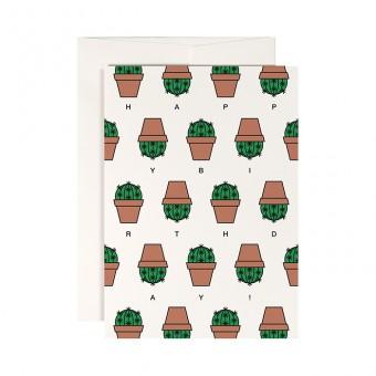 redfries cactus –Klappkarte DIN A6 mit Umschlag